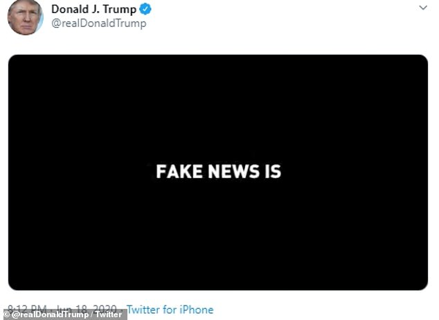 The next message that is flashed reads: 'Fake news is'