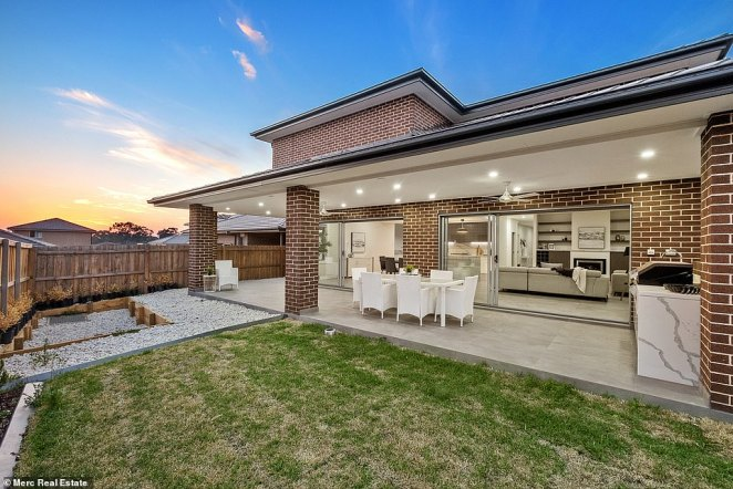 Kellyville has an abundance of modern, four-bedroom family homes (pictured, a similar property in the suburb) which has helped it become the most popular area for buyers