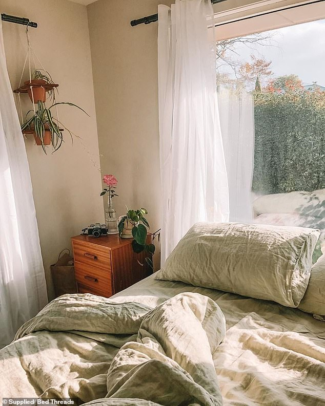 An expert has revealed the five simple steps to detoxing your bedroom - and how promoting good 'sleep hygiene' will mean you get better quality rest and relaxation (pictured)