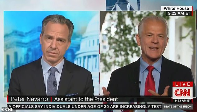 The white House Trade Adviser Peter Navarro claimed Sunday morning that Donald Trump was being tongue-in-cheek