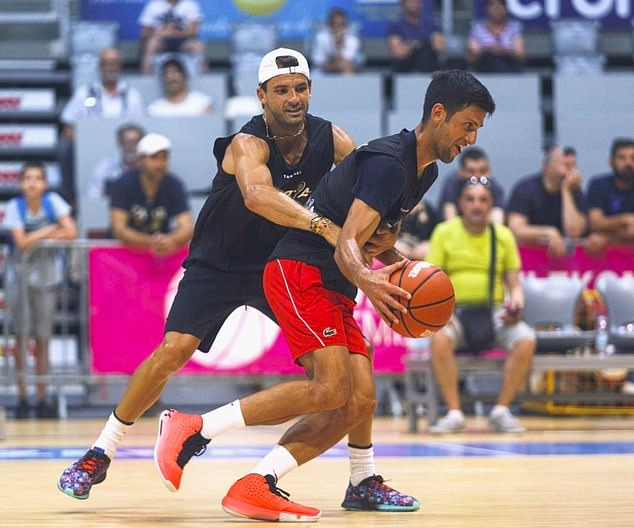 Dimitrov was pictured playing basketball with Novak Djokovic days before testing positive
