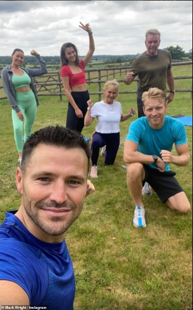 New venture: Mark and Josh started live workouts on their Instagram pages during the coronavirus lockdown, with Mark teaming up with a series of celebrities as well as his family