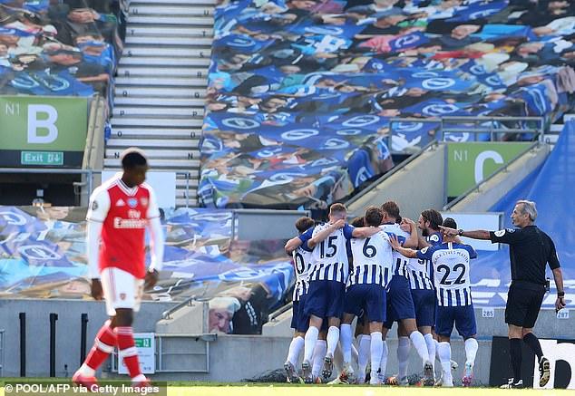 La défaite de samedi à Brighton signifie qu'Arsenal a perdu ses deux matchs depuis le redémarrage