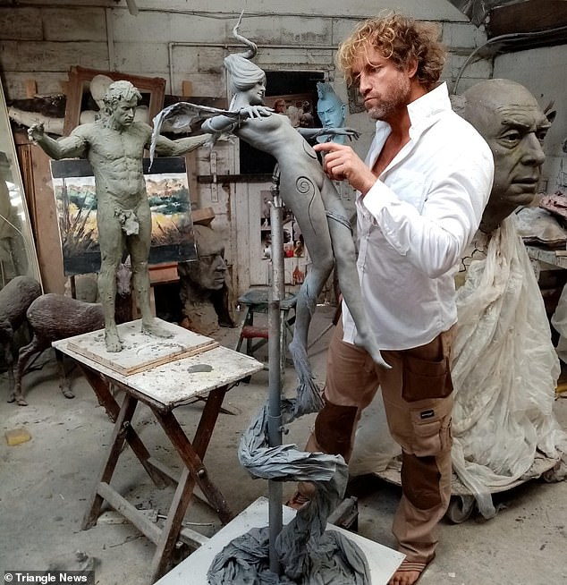 Sculptor Nick Elphick, who spent two years crafting the tribute to Sir Henry Morton Stanley, has been hit with a wave of criticism