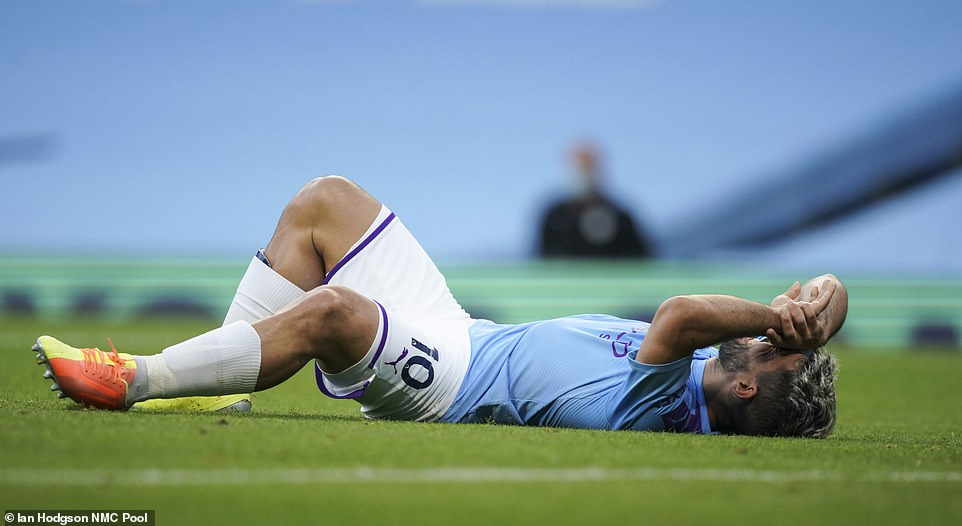 Aguero had to be substituted off after suffering an injury during the first-half, with the striker replaced by Gabriel Jesus