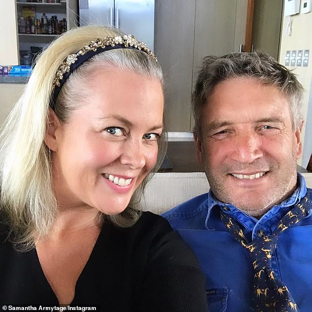 Loved up: Samantha and Richard, who began dating in April last year after meeting at a party, confirmed their romance to WHO magazine in November