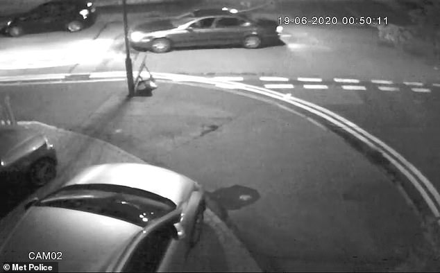 The met Police has today released an image of dark color), at the wheel of the car away from the scene and is appealing for more information