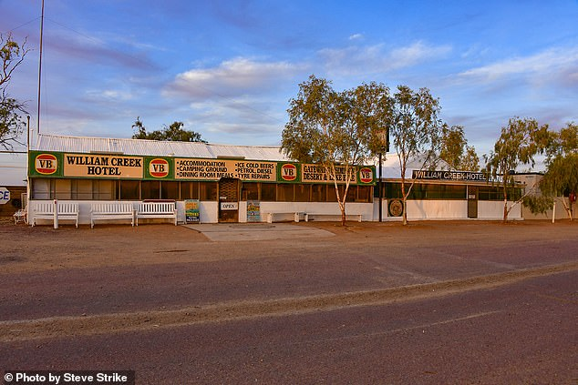 The William Creek Bar, which is in the outback town of William Creek in South Australia