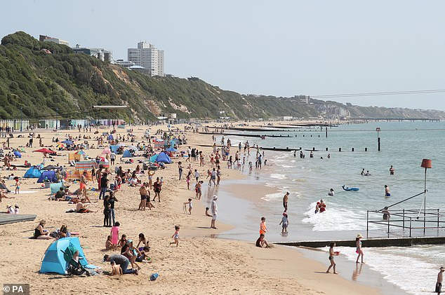 The news announced by the Prime Minister paved the way for staycations in seaside towns, such as Bournemouth in Dorset