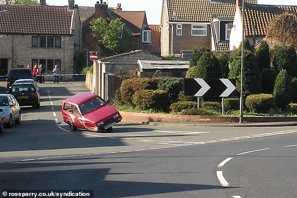 Flipping heck:In a now famous segment from Top Gear, former presenter Jeremy Clarkson flipped over a Reliant Robin multiple times (pictured)