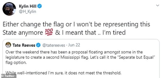 MSU broker Kylin Hill responded to a tweet Monday by Mississippi Governor Tate Reeves.