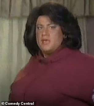 Oh no: In another sketch dating back to the 90s, he impersonated Oprah Winfrey