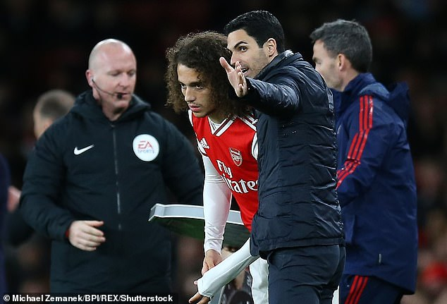 Arteta was frustrated and Guendouzi started only two of Arteta's opening 10 matches in charge