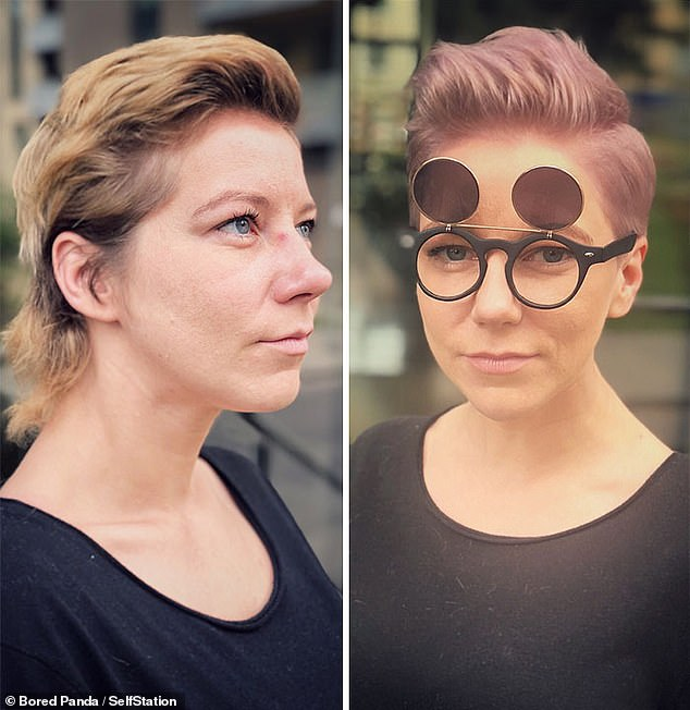 The hairdresser said she wanted to help women feel more confident in themselves and willing to experiment. This woman went for a new funky hairstyle full of personality