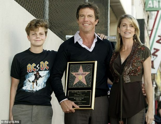 Past: Dennis married Texas real estate agent Kimberly Buffington a third time on July 4, 2004 at his Paradise Valley, Montana ranch;  photographed with his son Jack and Kimberly at their Hollywood Walk of Fame ceremony on November 16, 2005
