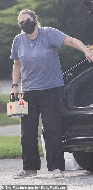 She was spotted buying a six-pack of Bass Ale in the town of Brewster.