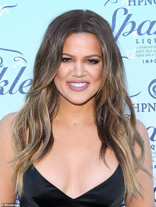 Difference: Khloe pictured in 2014 at an event in Beverly Hills