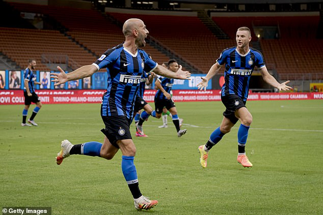 Borja Valero thought he'd won the game for Inter after making it 3-2 to the hosts on 81 minutes