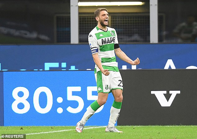 Domenico Berardi made Gagliardino pay for his miss after making it 2-2 from the penalty spot