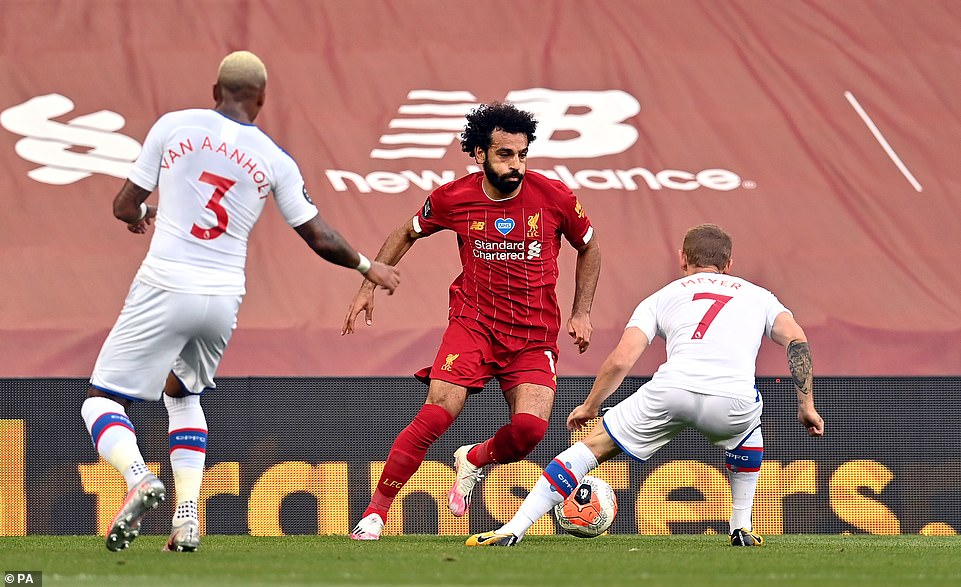 Salah returned to the starting line-up after being forced to watch Monday's draw away at Everton from the substitutes' bench