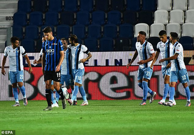 Lazio enjoy a touch of fortune with their opener as Marten de Roon scores a bizarre own-goal