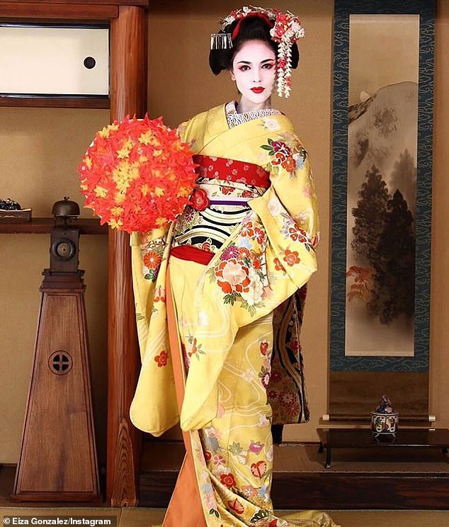 Questionable: Eiza also acknowledged photos of her dressed as a geisha, addressing claims she was guilty of cultural appropriation