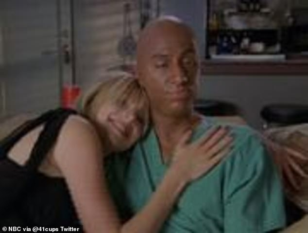 Bad impersonation: In one Zach Braff's character JD dons blackface pretending to be co-star Donald Faison, who is black