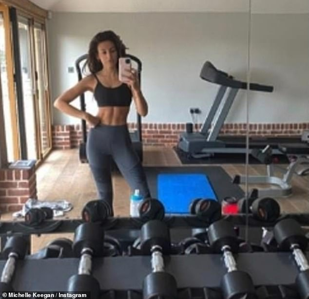 Number one fan: Mark Wright has revealed he thinks his wife Michelle Keegan has a 'cracking set of abs'