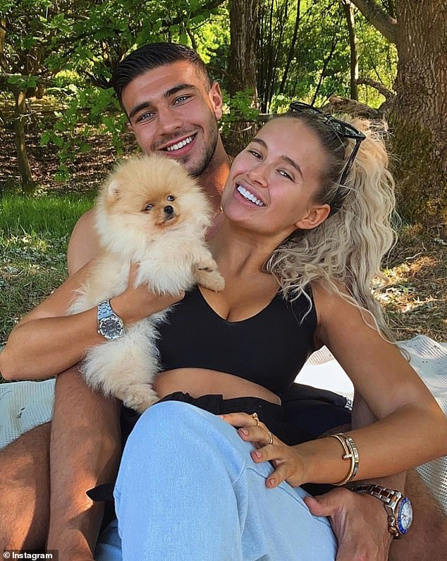 Heartbreaking: Molly-Mae Hague, 21, and Tommy Fury's, 21, dog Mr Chai died just 6 days after being delivered from Russia