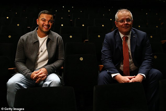 Funding: Scott Morrison announced the $250million boost for Australia's struggling creative sector to help embattled industries rebuild after the coronavirus crisis on Thursday