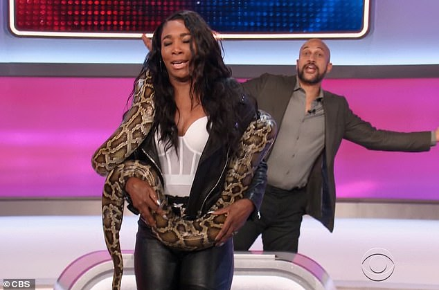Loss taken:Venus, to her dismay, was left holding the snake after her team lost