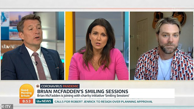 Reaching out: Brian appeared on the show to discuss his Smiling Sessions in care homes where he has been performing remotely during lockdown