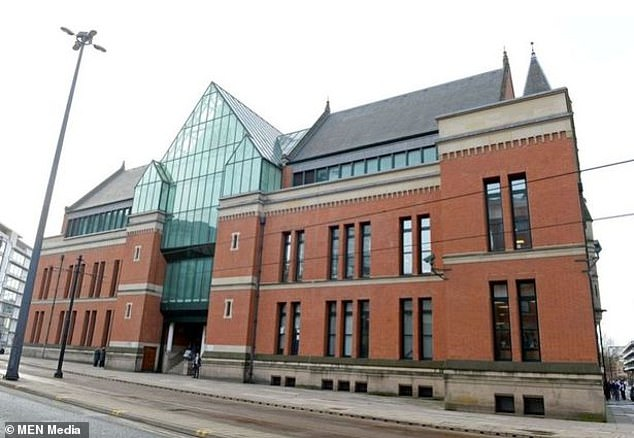 Sentencing Judge Elizabeth Nicholls told Hardman: 'You are 36, not 16, and need to grow up and take control of yourself. You should know how to behave responsibly towards other people' (pictured:Minshull Street Crown Court, Manchester)