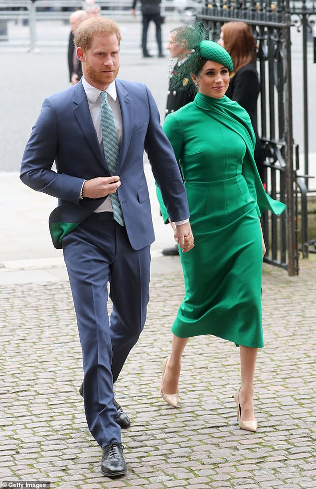 Royal expert Ingrid Seward has warned the royal couple will have to spill details of their time in the firm in order to justify the six-figure fee. Pictured in March in London
