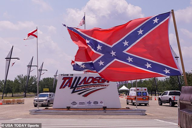 While the noose in Bubba Wallace's garage turned out to be an innocent garage pull, the display of Confederate flags being paraded outside Talladega remains a sore spot for NASCAR