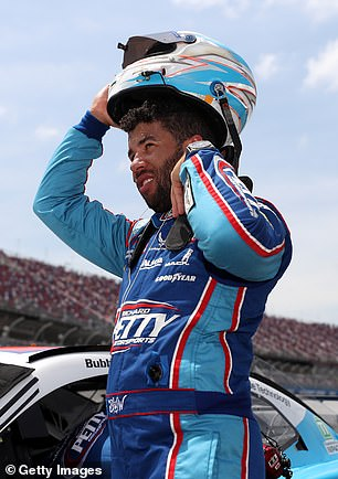 Amid national uproar over the killing of George Floyd, a black man, at the hands of Minneapolis police last month, Bubba Wallace (pictured), the only black full-time driver on NASCAR's top circuit, successfully pushed for the Confederate flag to be banned at all races