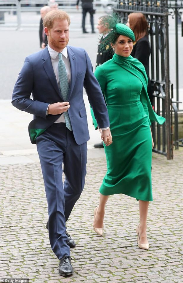 Less than two years after attending her first royal event, Meghan joined Prince Harry in the Commonwealth Service for her final official royal duty.