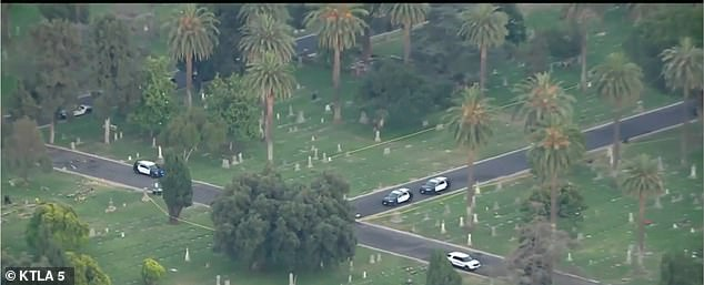 The Santa Ana Police Department descended onto the scene at the cemetery and opened an active investigation into the matter