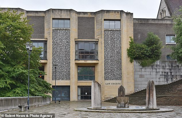 Winchester Crown Court, pictured, was told that less than a mile before the collision Mr Lowe travelled 64mph on a village road which had a speed limit of 30mph (file photo)