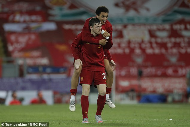 The Reds secured a 4-0 victory over Roy Hodgson's side in front of an empty Anfield