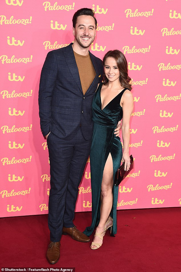 All over: It comes after Maura's former Dancing On Ice partner Alexander Demetriou confirmed he has separated from wife Carlotta Edwards (pictured together last November)
