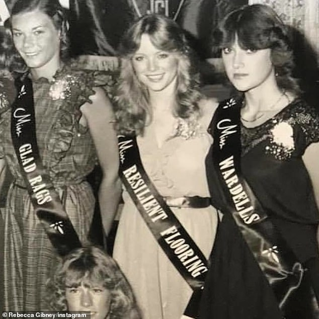 Another throwback! Last month, Rebecca shared a black and white photo from her time in a beauty pageant in the eighties