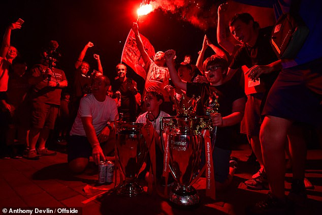 Liverpool fans of all ages congregated outside their club's ground to mark the occasion