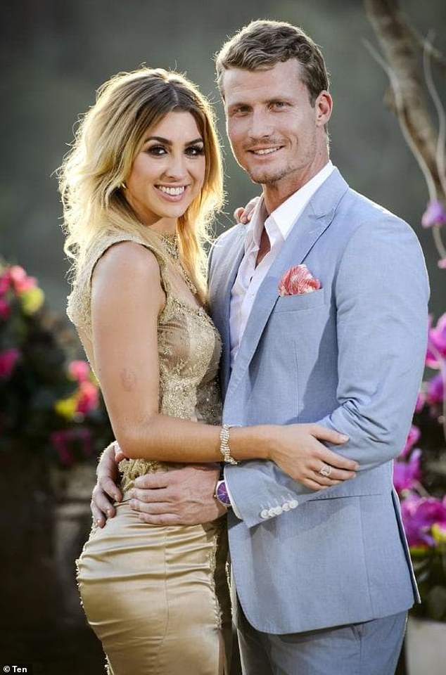 Exes: Before meeting Jenayah, Richie found love with Alex Nation (left) on The Bachelor in 2016 - but the pair went through a messy split the following year