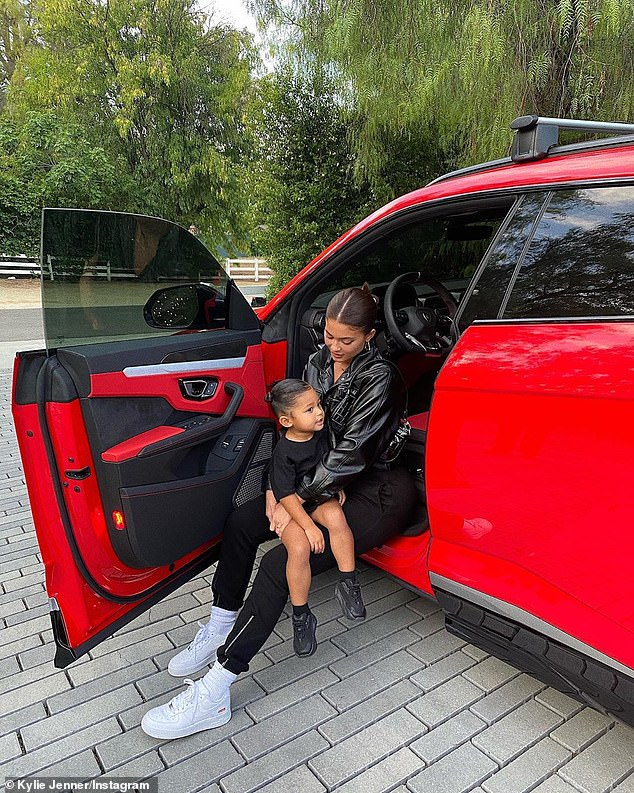 Ready to roll? On Thursday, KUWTK star Kylie Jenner shared a cute snap of herself inside one of her many cars with her two-year-old daughter Stormi Webster perched on her lap