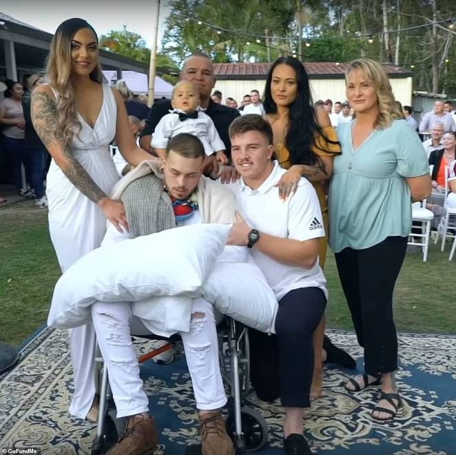 Maia married her terminally ill fiance in a touching backyard wedding (pictured) days before he lost his battle with cancer