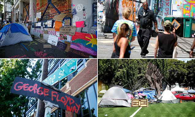 Tent cities, renamed streets and an armed man in Seattle's CHOP zone