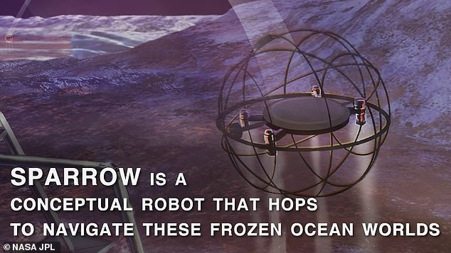 SPARROW robots would be about the size of a soccer ball and include a system of thrusters, avionics and instruments encased in a protective spherical cage