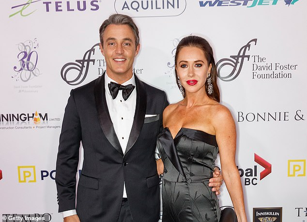 Mulroney's husband Ben, pictured with her here, was also affected by the aftermath and announced Monday that he is leaving his CTV entertainment show `` etalk ''