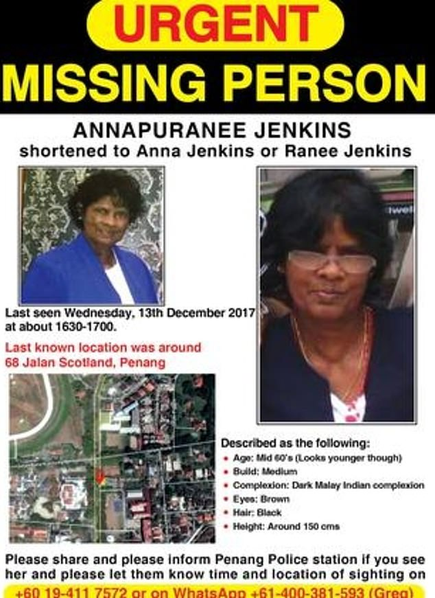 A concerned local sent the family the images on June 14 after tracking down their contact details off a missing persons poster (pictured)